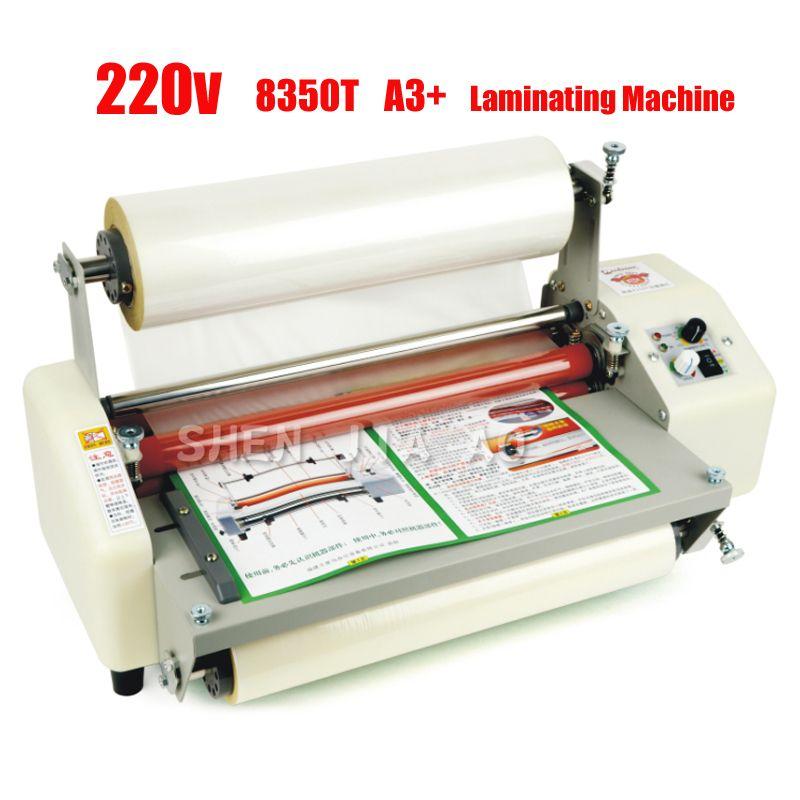 12th 8350 T A3 + Vier Rollen Laminator Heiße Rolle Laminieren Maschine, High-end geschwindigkeit regulierung laminieren maschine