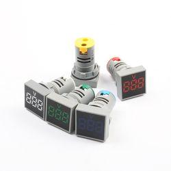22mm Square Measuring Range Current AC 20-500V Volt 0-100A Voltmeter voltage meter indicator pilot light digital ammeter