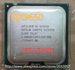 Intel Core 2 Ekstrim QX9650 CPU/LGA775/SLAN3/45nm/130 W/12 M/FSB1333 (Bekerja 100% Gratis Pengiriman)