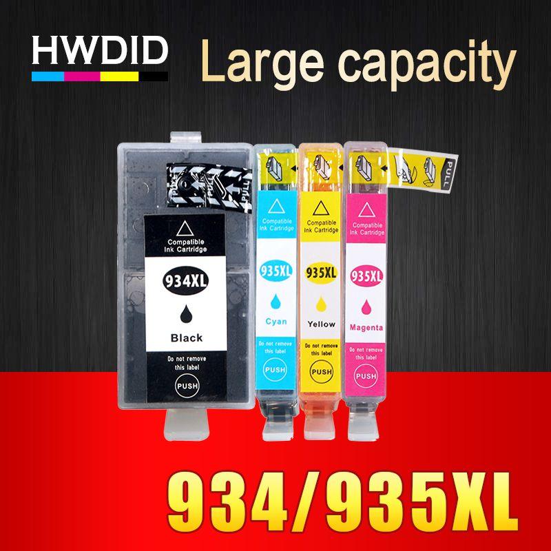 4 PCS NOUVELLE VERSION Cartouche D'encre Compatible pour HP 934 934XL 935 935XL pour Officejet pro 6230 6830 6835 6812 6815 6820 imprimante