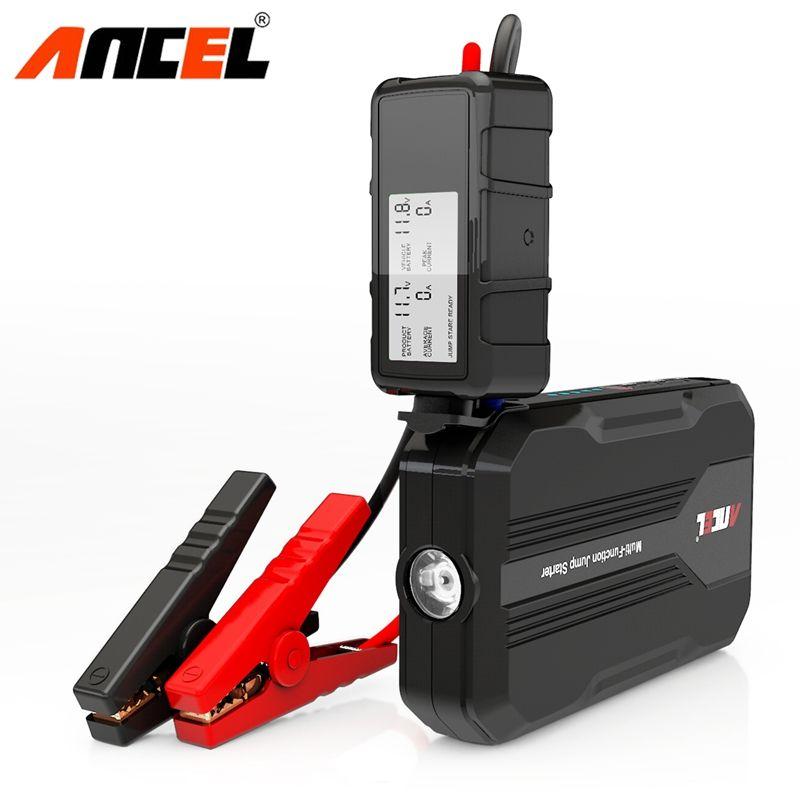 ANCEL 12V Car Jump Starter 500A Peak Portable Auto Battery Emergency Charger Power Bank Supply for Gasoline Diesel Car Starter