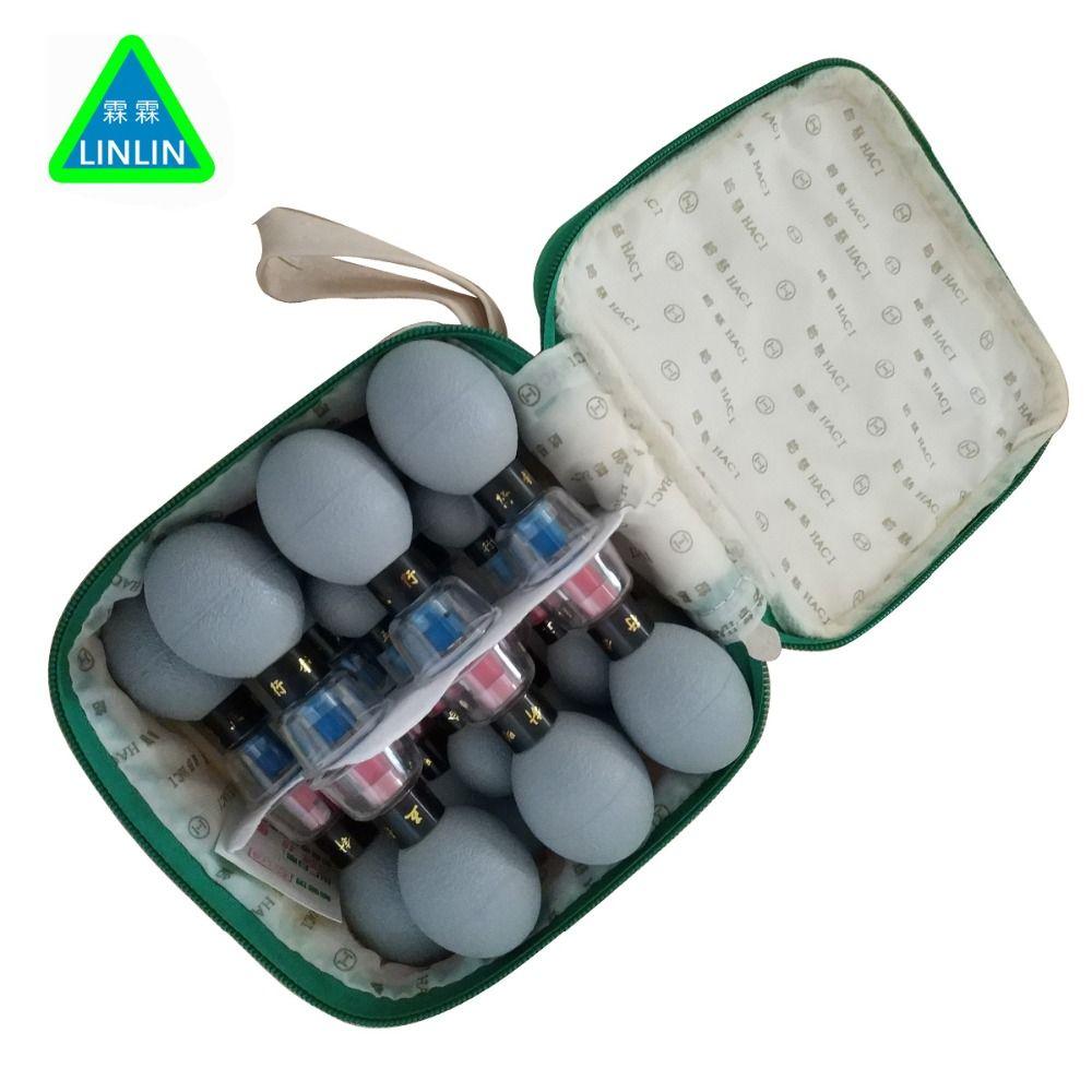 LINLIN 18 stücke haushalt Vakuum Haci Magnetische Therapie Akupressur Saugnapf TCM akupunktur und moxibustion schröpfen Gesundheit Pflege