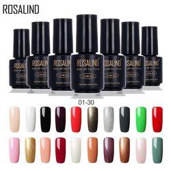 ROSALIND 7ML 01-30 Pure Color UV LED Soak-off Gel Nail Polish Nail Art Clearance Sale Semi Permanent Gel Varnishes Gel Lak