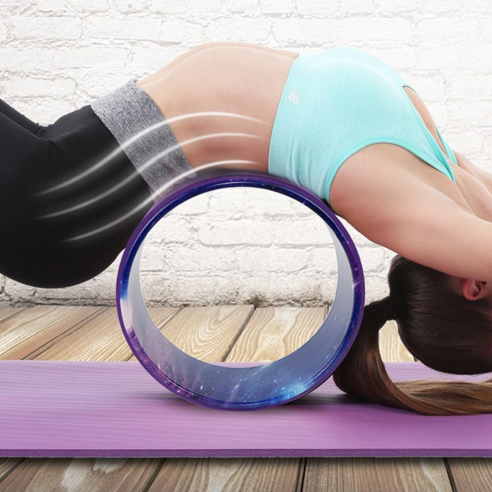 Starry Yoga Wheel Strongest & Most Comfortable Dharma Yoga Prop Wheel For Stretching and Improving Backbends Fitness Men Women