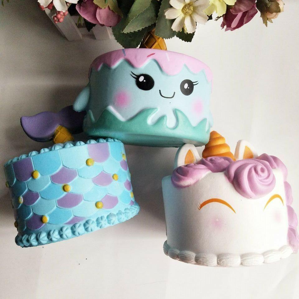 Jumbo Squishy animal Whale Cake Slow Rising Sweet Scented Kids Doll Cake Toys Decor Squeeze Fun Joke Gift 14CM