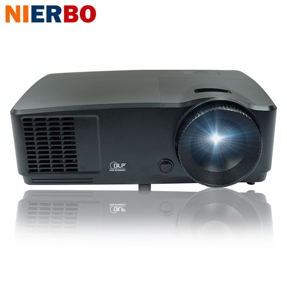 1920x1080 Native Projector Theater Cinema 6000 Lumens 1080P Full HD Projector for Education Business School Church Daytime