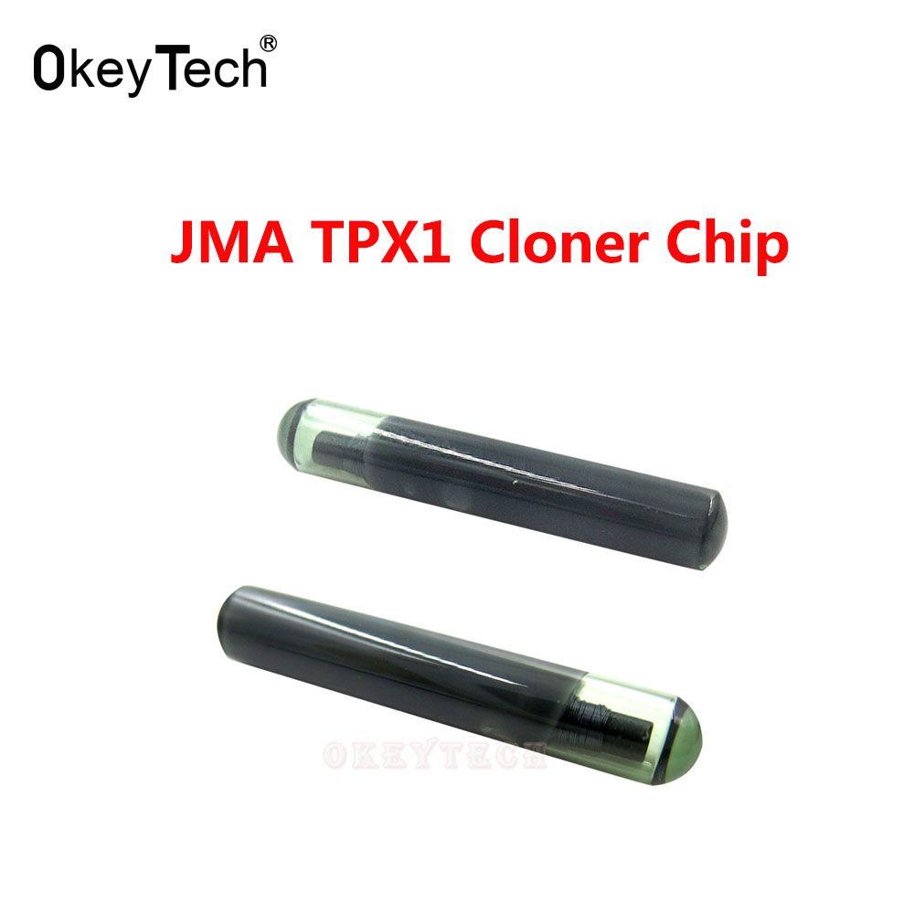OkeyTech 1 Stück für JMA TPX1 Cloner Chip Auto Transponder Chip Original Glas TPX1 Crypto Entsperrt Chip Auto Auto Zündung System