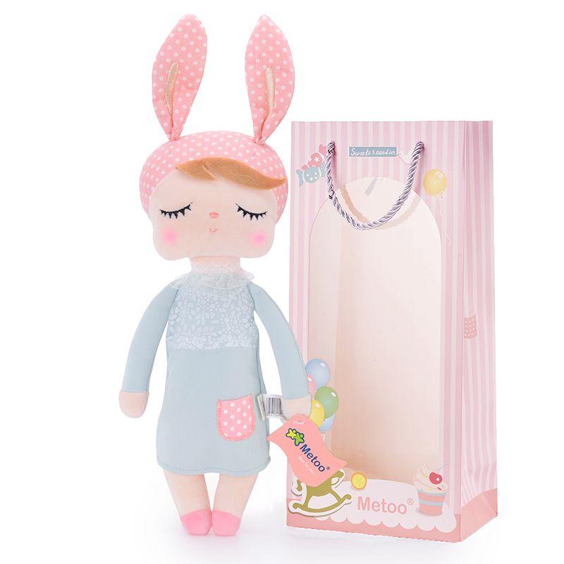Metoo lapin de pâques Angela poupées fille porter jupe jouets en peluche jouets cadeaux en peluche pour enfants fille lapin Dolls12 * 4