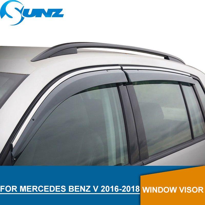 Window Visor for MERCEDES Benz v 2016-2018 Weather Shields rain guards for MERCEDES Benz v 2016-2018 SUNZ