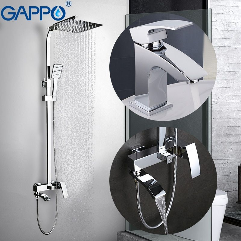 GAPPO Shower Faucets bathroom faucet mixer brass basin mixer taps basin sink faucet Sanitary Ware Suite