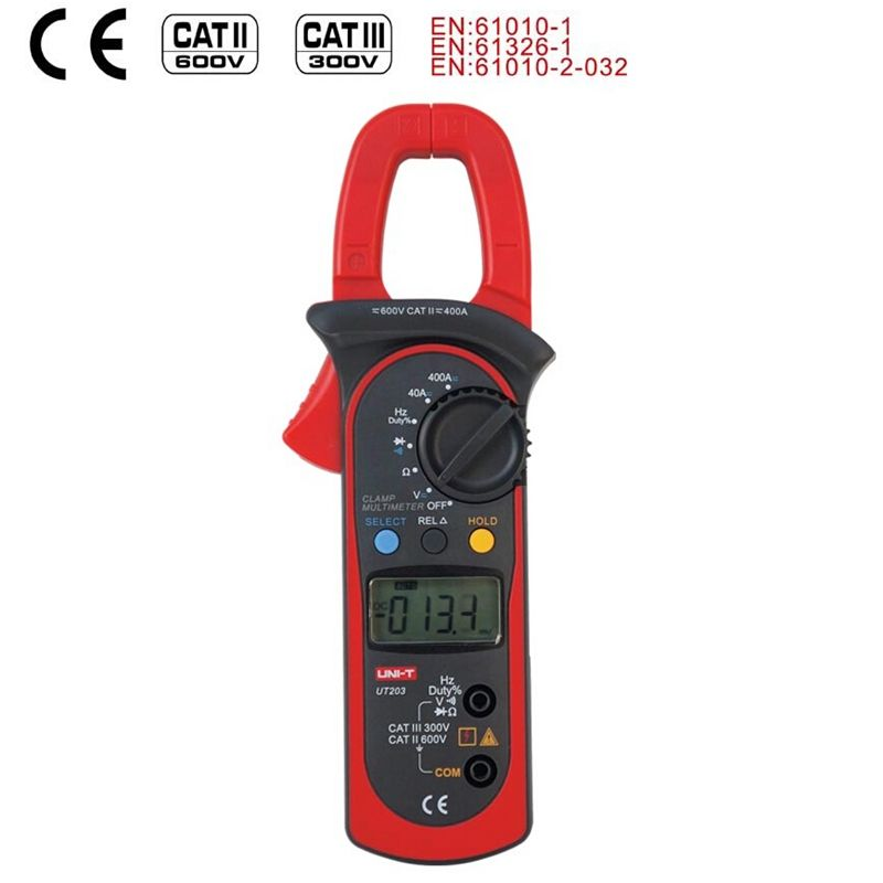 UNI T UT203 Digital Clamp Meter Auto Range Multimeter AC DC 600 v Voltmeter Amperemeter Ohmmeter Frequenz Diode Tester Daten halten