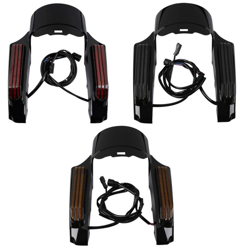 TCMT Motorcycle LED Light Rear Fender Fascia Set For Harley 2014-18 Touring Road King ELectra Street Glide FLHR FLHT FLHX FLHTCU