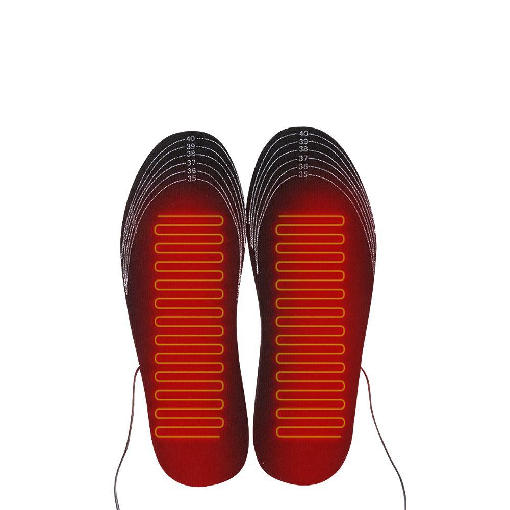 1 paire USB semelles de chaussures chauffantes pied coussin chauffant pieds plus chaud chaussette tapis hiver Sports de plein air semelles chauffantes hiver chaud