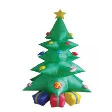 Outdoor giant inflatables Christmas decoration tree with Gifts box and Stars