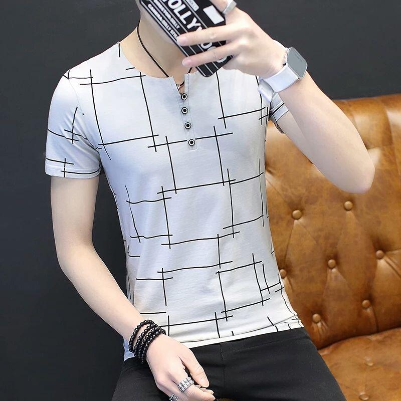 Jay Smith Barney à manches longues T-shirt mâle V col de chemise Coréenne printemps vêtements 2018 nouveaux hommes chandail mince