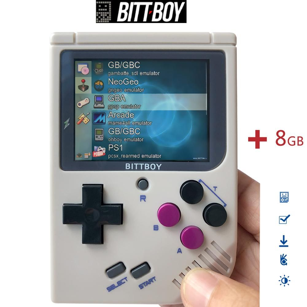 BittBoy V3.5+8GB/32GB, Game console, Handheld game players, Console retro,Retro Video Game, Load more games from SD card