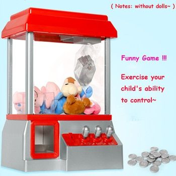 Hot Sale Kids Music Candy Grabber Coin Operated Game Doll Machine Claw Arcade Gifts Without Toys