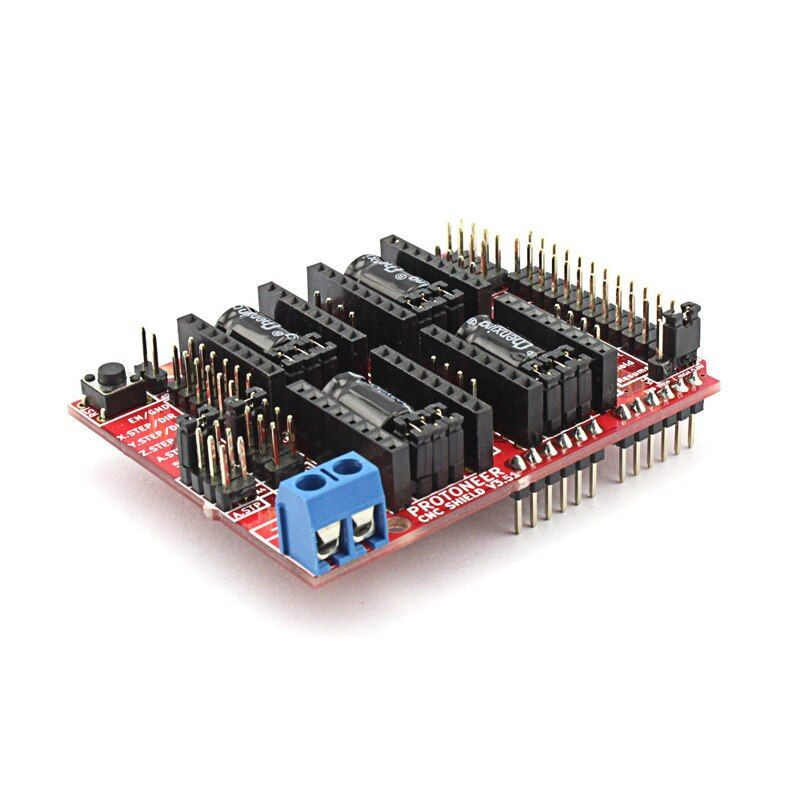 Elecrow CNC Shield V3.51 for Arduino 3D Printer Development Board Micro Controllers GRBL v0.9 Compatible Uses Pololu Drivers