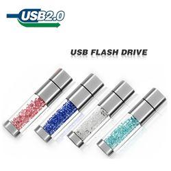 Помада usb флэш-накопитель 4 ГБ 8 ГБ 16 ГБ 32 ГБ Кристальные украшения креативный u-диск ручка-накопитель Флешка диск карты памяти