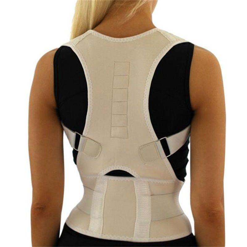 Adjustable Unisex Back Support Straighten Out Brace Belt Orthopaedic Magnetic Back Shoulder Posture Corrector Health