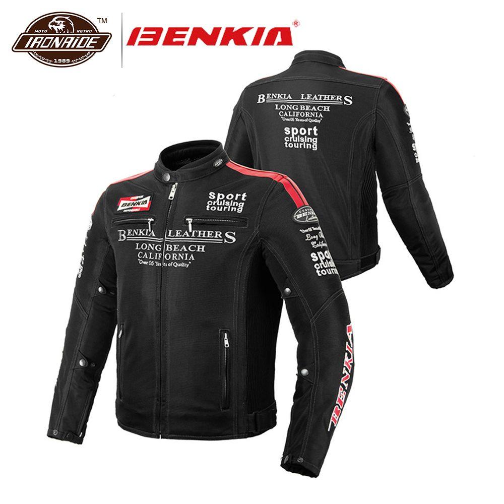 BENKIA Männer Motorrad Jacke Frühling Sommer Herbst Jacken Motochaqueta Moto Schutz Getriebe Atmungsaktives Mesh Motorrad Kleidung