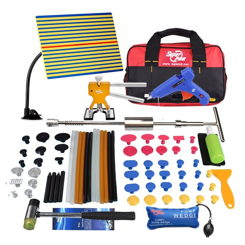 PDR Tools Kit Dent Removal Dent Repair Reflector Board Reflection Board Dent Puller Mini Lifter Glue Tabs Suction Cup