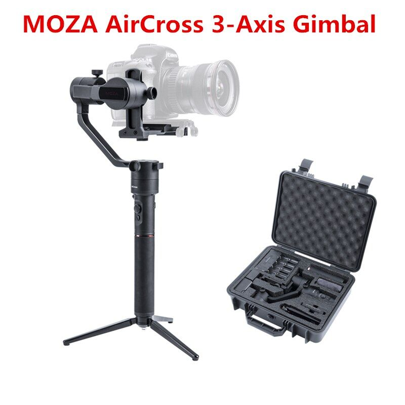 MOZA AirCross 3 Axis Handheld Gimbal Stabilizer for Mirrorless 1800g Auto-Tuning Long Exposure Time-lapse for SONY CANON A7