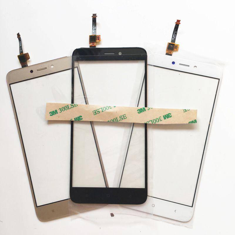 Noir Blanc Or 5.0 Écran Tactile Pour Xiaomi Redmi 4X Redmi4X Écran Tactile Digitizer Verre Panneau Avant Du Capteur Objectif