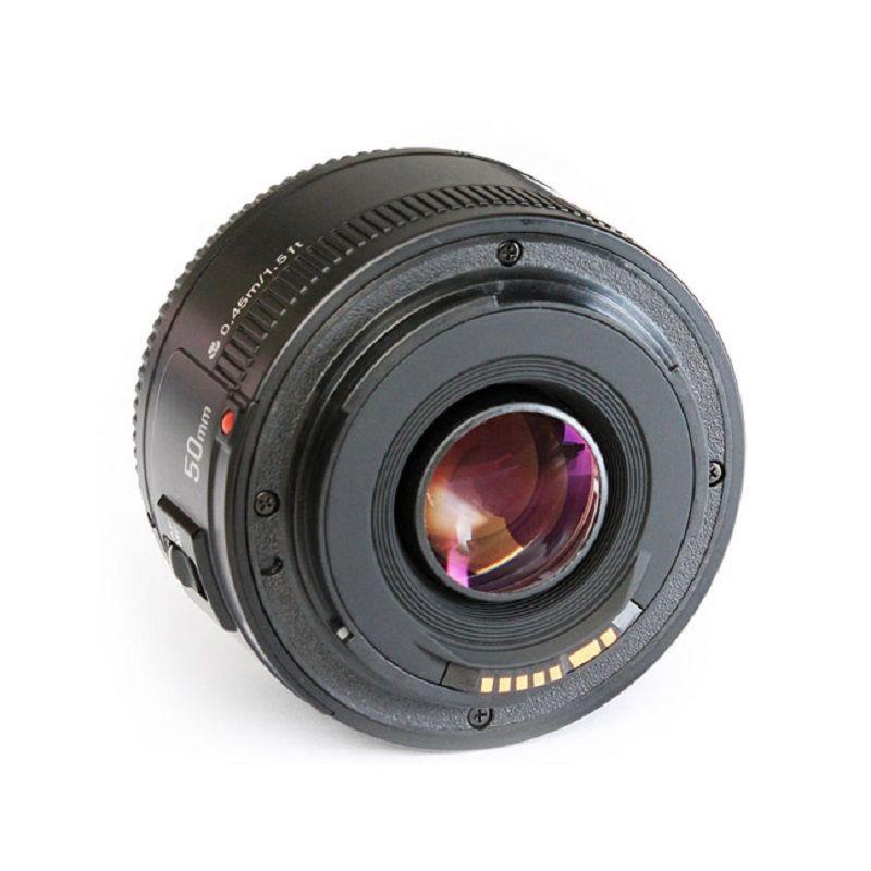 YONGNUO YN50mm F1.8 Caméra Lentille EF 50mm pour Canon Ouverture Automatique Focale Pour REFLEX NUMÉRIQUE EOS 700D 750D 800D 5D Mark II IV 10D 1300