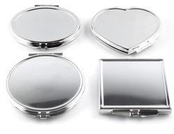 1 pcs Différentes Formes Portable Pliant Miroir Mini Compact En Acier Inoxydable Métal Maquillage Cosmétique Miroir De Poche Pour Le Maquillage Outils
