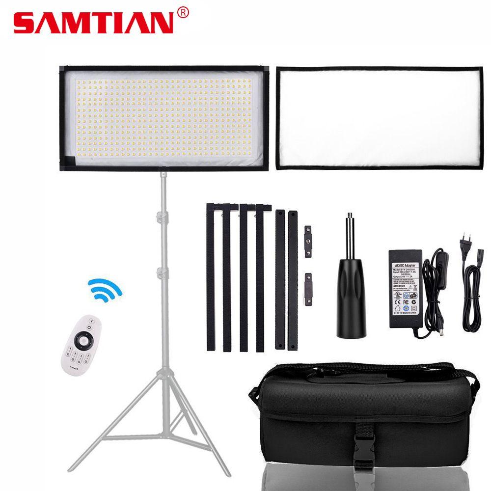 SAMTIAN FL-3060A Flexible LED Video Light Photography Light Dimmable 3200-5500K 30*60cm Panel Lamp Light For Studio Photo