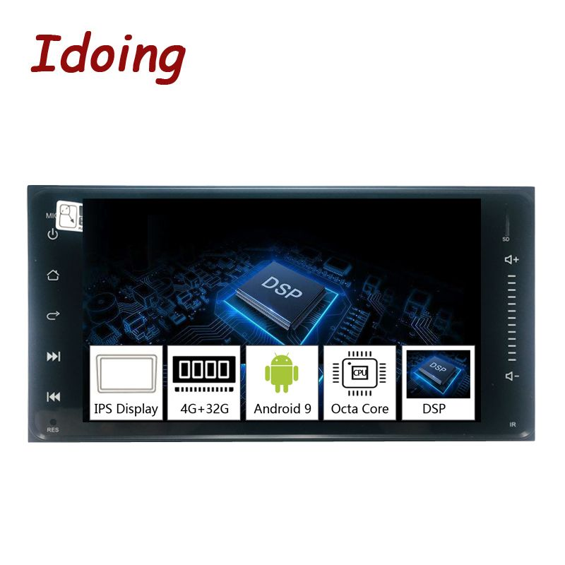 Idoing 2Din Android 9.0 7 PX5 4G + 32G Octa Core Universal Auto GPS DSP Radio Player IPS screen-Navigation Multimedia Bluetooth