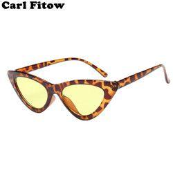 2018 nuevo atractivo lindo Retro Cat Eye Sunglasses mujeres negro triángulo blanco Vintage barato gafas de sol UV400