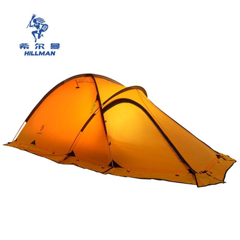Hillman camping zelt doppel schicht aluminium pole zelt anti typhoon vier jahreszeiten Alpine beschichtet silikon beschichtet zelt bereich 2