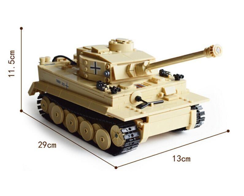 KAZI 2017 NEW 82011 995pcs Century Military German King Tiger Tank Cannon Building Blocks Bricks Model Sets Toys for children