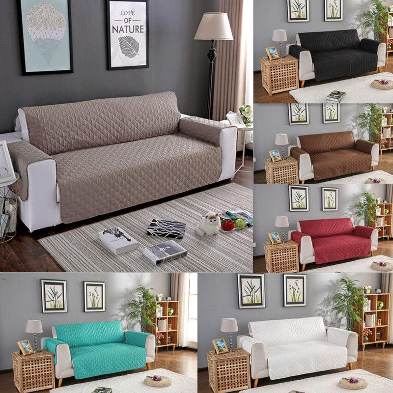 1 pièces couleur unie canapé canapé couverture manteau lavable amovible serviette accoudoir canapé couvertures housses chien animaux de compagnie simple/deux/trois places