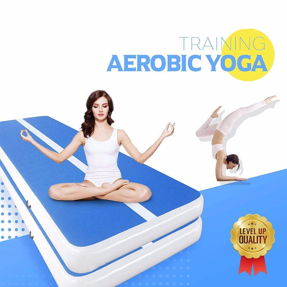 Inflatable Gymnastics AirTrack Tumbling Air Track Floor Trampoline Electric Air Pump for birthday Home Use/Training/Cheerleading