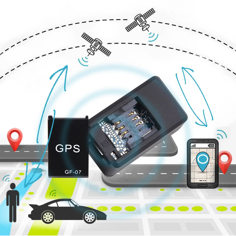 GF07 GSM GPRS Mini Car GPS Locator Tracker Car Tracker Anti-Lost Recording Tracking Device Voice Control Can Record SMS Alarm