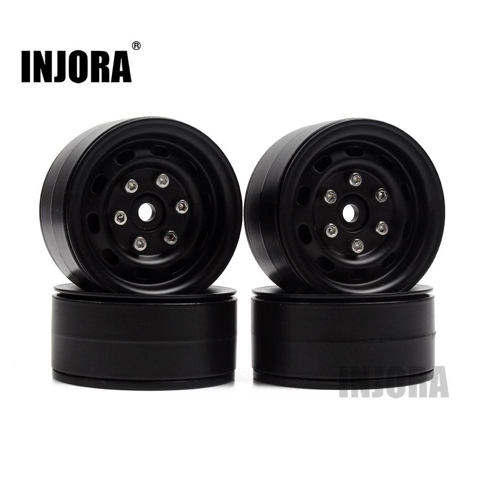 4PCS Metal 1.9 Inch Beadlock Wheel Rim for 1/10 RC Rock Crawler Traxxas TRX-4 Axial SCX10 90046 Tamiya CC01 D90 D110 TF2