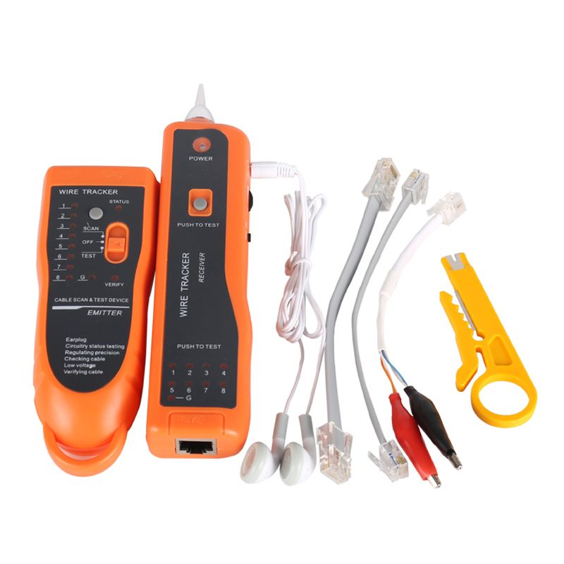 Vente chaude RJ11 RJ45 Cat5 Cat6 Téléphone Fil Tracker Traceur De Toner Ethernet LAN Réseau Câble Testeur Détecteur Ligne Finder