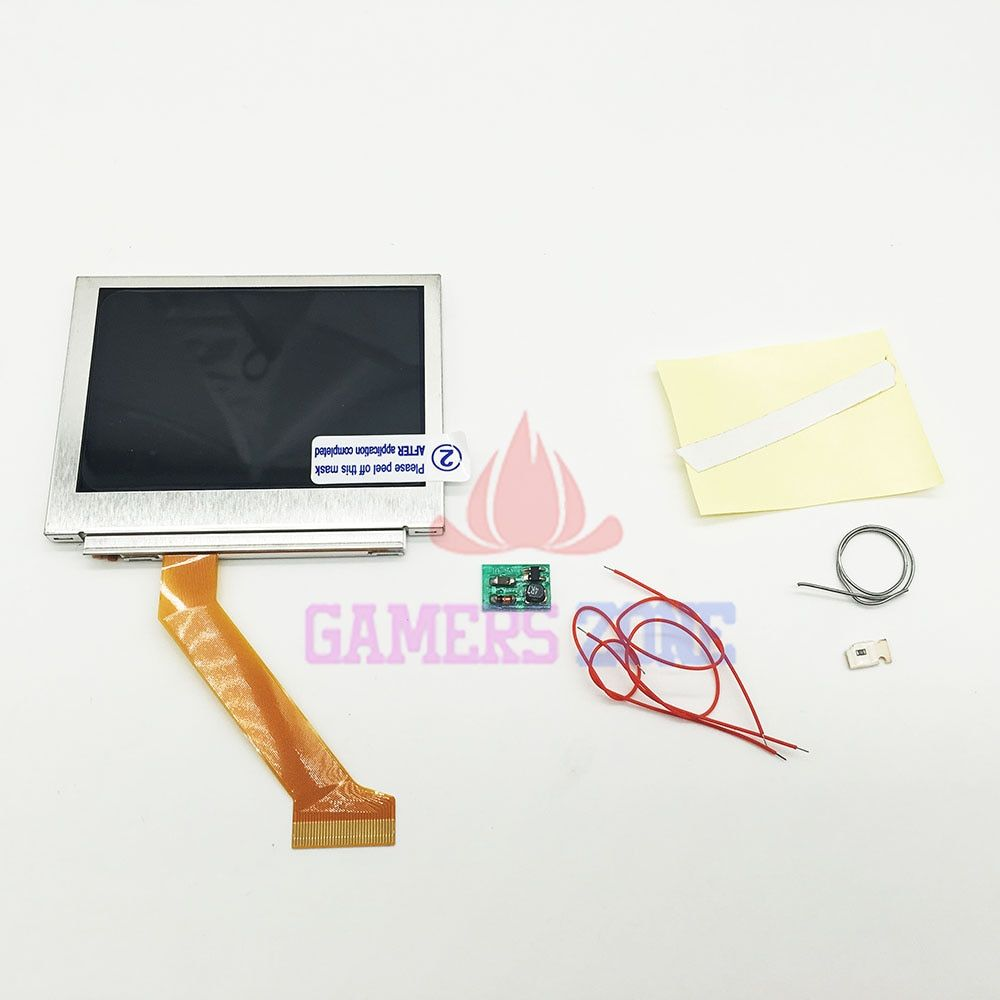 For GBA SP Screen LCD OEM Backlit Brighter Highlight W/ Normal Motherboard Modify Part