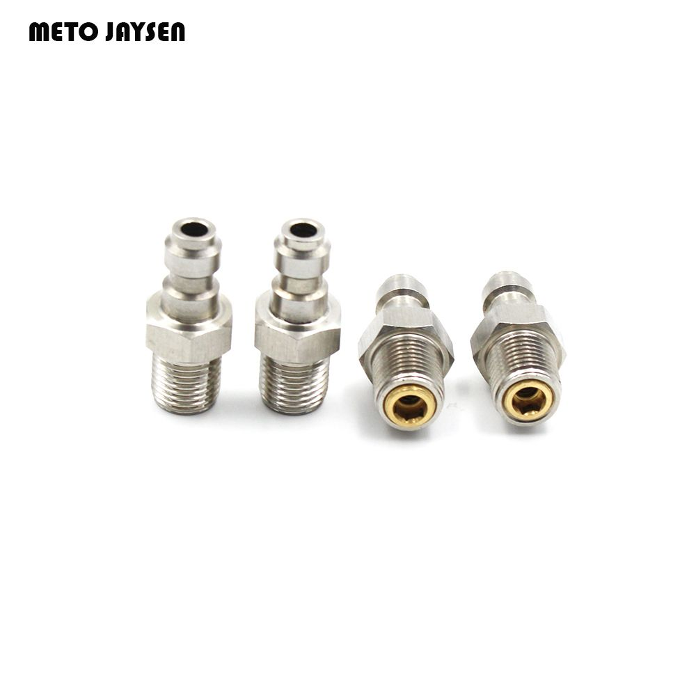PCP Airforce Paintball Stainless Steel Quick Coupler Connector M10*1 8MM Male Plug For Air Socket Connection QP002 3PC/1 Lot