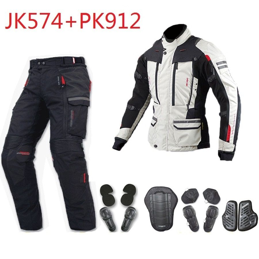 Free shipping 1set Motorcycle Motorbike Touring Textile Cordura Waterproof Windproof Keep Warm Motorcycle Jacket and PantJacket