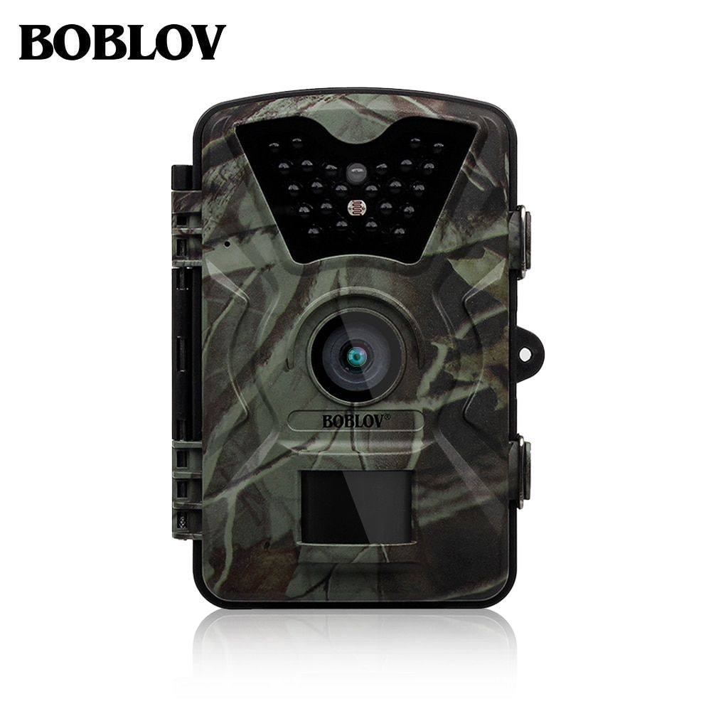 Boblov CT008 12MP 1080 p Trail Chasse Caméra Ferme de La Faune Jeu Scoutisme Cam Vision Nocturne Avec Accéléré 65ft 90 degrés PIR