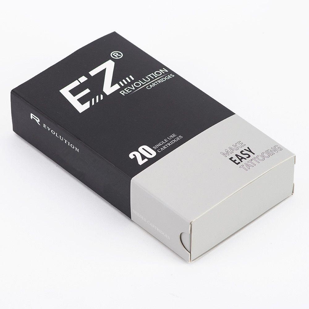 EZ New Revolution Needle Cartridge Regular Long Taper Round Liner Tattoo for Rotary Cartridge Tattoo Machine Pen 20PCS/Box
