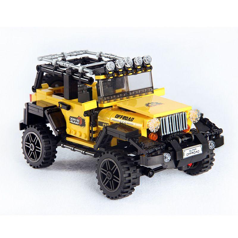 610pcs Offroad Adventure Set Building Blocks Car Series Bricks Toys For Kids Educational Kids Gifts Model Compatible Lego