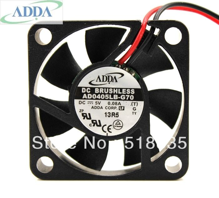 ADDA AD0405MB-G70 FAN 40X40X10MM 4cm 40mm 4010 BALL BEARING 5V 4800RPM