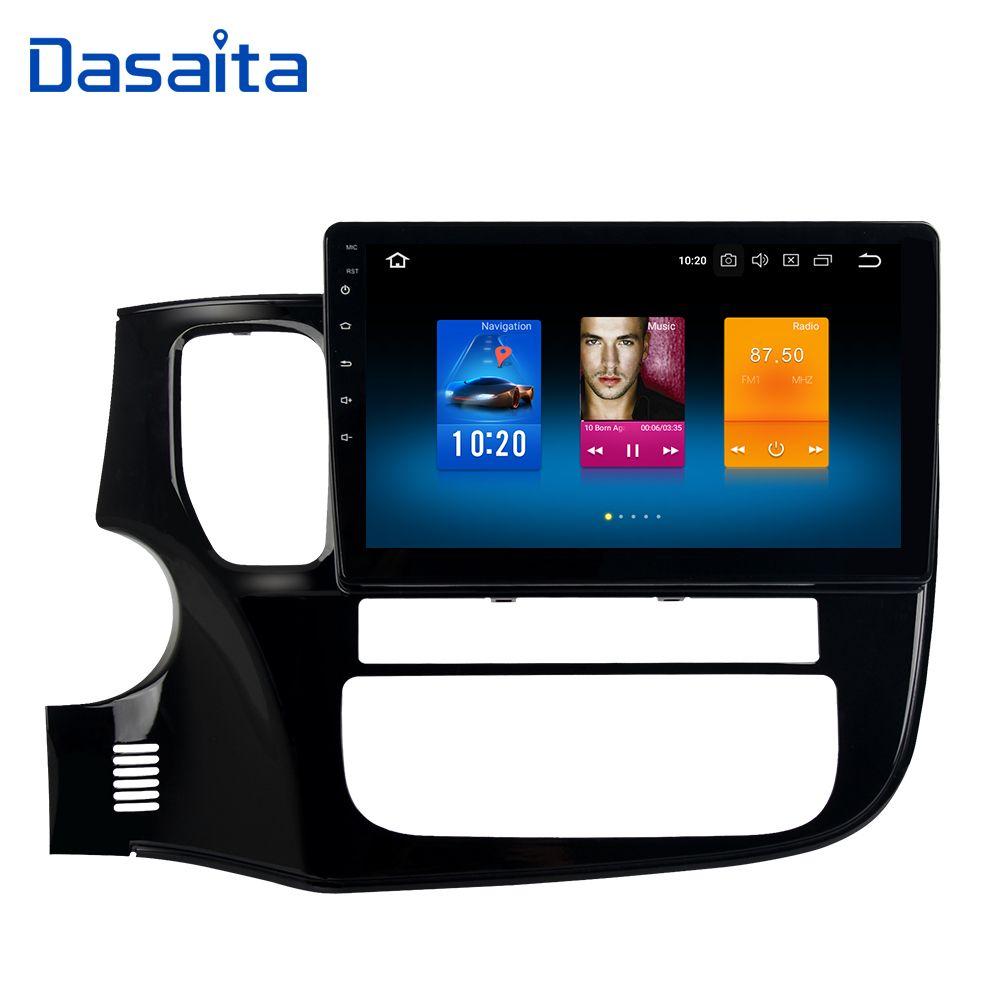 Dasaita 10,2 Android 9.0 Auto GPS Radio Player für Mitsubishi Outlander 2014-2017 mit Octa Core 4 GB + 32 GB Auto Stereo Multimedia