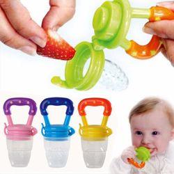 Buah Puting Gigitan Silicone Teether bayi Teethers Portabel Bayi Keselamatan Mainan Feeder Pacifier 6 + Bulan