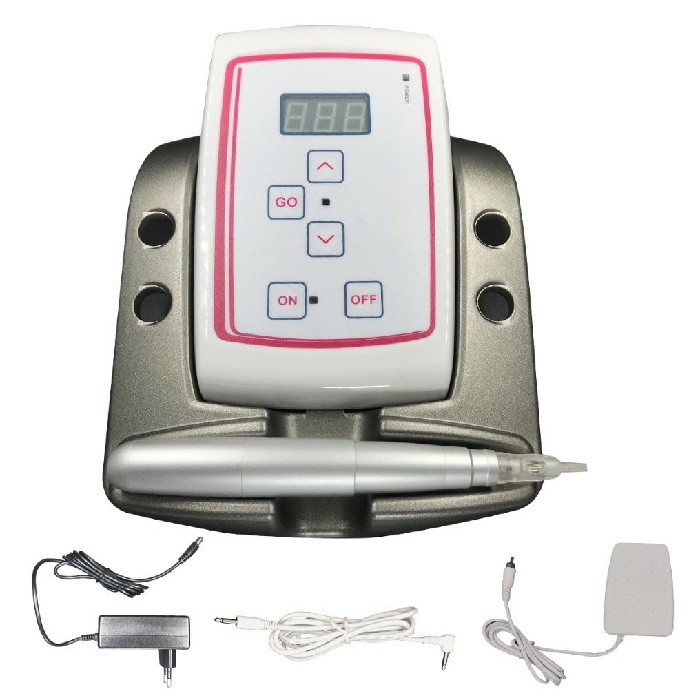Free Shipping Micropigmentation Device For Micropigmented Permanent Makeup Eyebrow Tattoo Machine With Digital Control Panel
